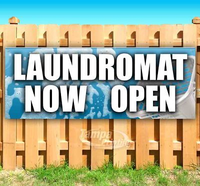 Laundromat Now Open Advertising Vinyl Banner Flag Sign Many Sizes Usa