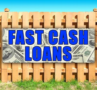 Fast Cash Loans Advertising Vinyl Banner Flag Sign Many Sizes Available Usa
