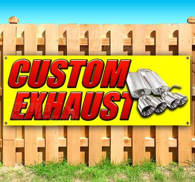Custom Exhaust Advertising Vinyl Banner Flag Sign Many Sizes Usa Muffler