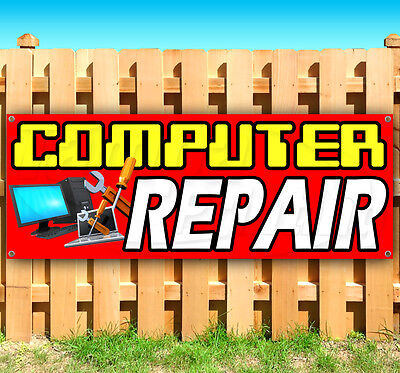 Computer Repair Advertising Vinyl Banner Flag Sign Many Sizes Available Usa
