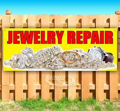 Jewelry Repair Advertising Vinyl Banner Flag Sign Many Sizes