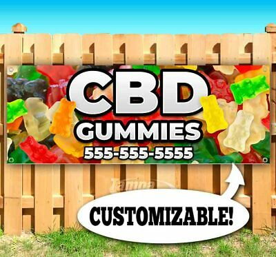 Cbd Gummies Custom Phone Advertising Vinyl Banner Flag Sign Many Sizes Usa