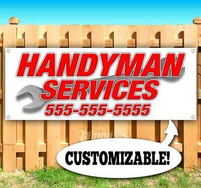 Handyman Services Custom Ph Number Advertising Vinyl Banner Flag Sign Many Sizes