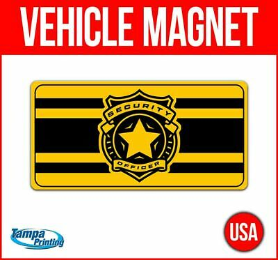 Security Badge Heavy Duty Vehicle Magnet Truck Car Sticker Decal Sign Caution