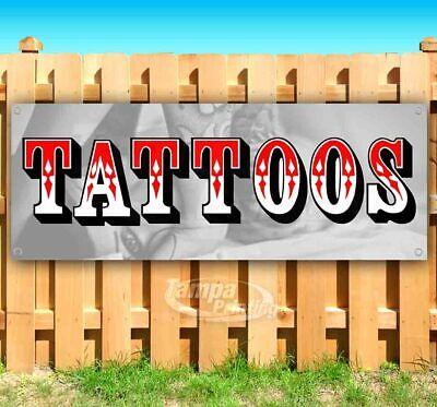 Tattoos Advertising Vinyl Banner Flag Sign Many Sizes Available Usa Body Art