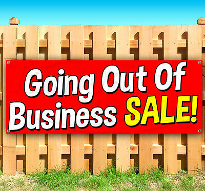 Going Out Of Business Sale Advertising Vinyl Banner Flag Sign Many Sizes Usa