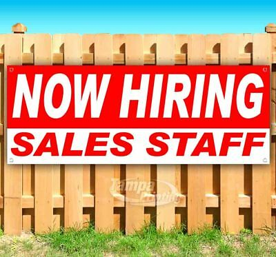 Now Hiring Sales Staff Advertising Vinyl Banner Flag Sign Many Sizes Usa
