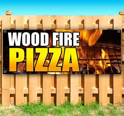 Wood Fire Pizza Advertising Vinyl Banner Flag Sign Many Sizes Food Pie