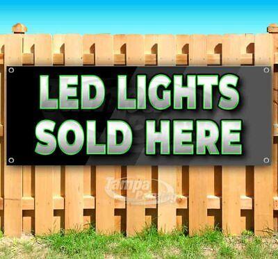 Led Lights Sold Here Advertising Vinyl Banner Flag Sign Many Sizes Usa