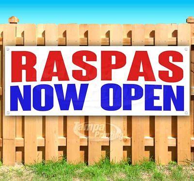 Raspas Now Open Advertising Vinyl Banner Flag Sign Many Sizes