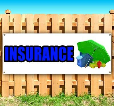 Insurance Advertising Vinyl Banner Flag Sign Many Sizes Available Rent Usa
