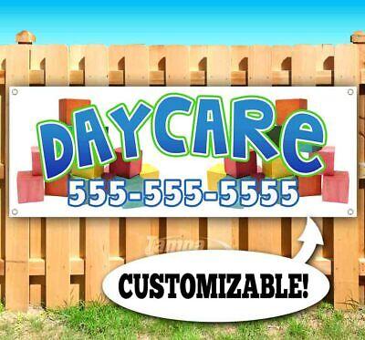 Daycare Custom Phone Number Advertising Vinyl Banner Flag Sign Many Sizes