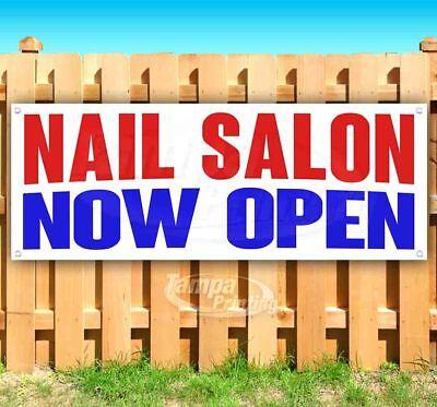 Nail Salon Now Open Advertising Vinyl Banner Flag Sign Many Sizes