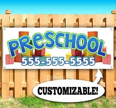 Preschool Custom Phone Number Advertising Vinyl Banner Flag Sign Many Sizes