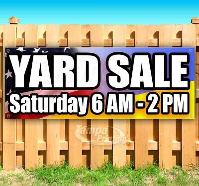 Yard Sale Custom Date And Time Advertising Vinyl Banner Flag Sign Many Sizes