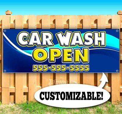Car Wash Open Custom Phone Advertising Vinyl Banner Flag Sign Many Sizes Usa