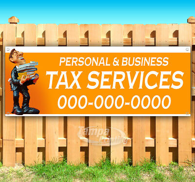 Personal Business Tax Customize Advertising Vinyl Banner Flag Sign Many Sizes