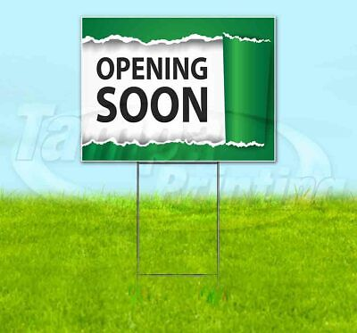 Opening Soon Yard Sign Corrugated Plastic Bandit Lawn Decoration Usa