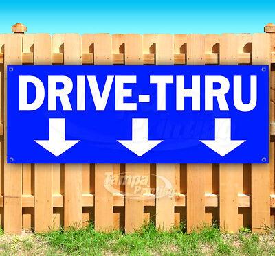 DRIVE-THRU Advertising Vinyl Banner Flag Sign Many Sizes (Drive Sign)