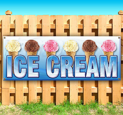 Ice Cream Advertising Vinyl Banner Flag Sign Many Sizes Available