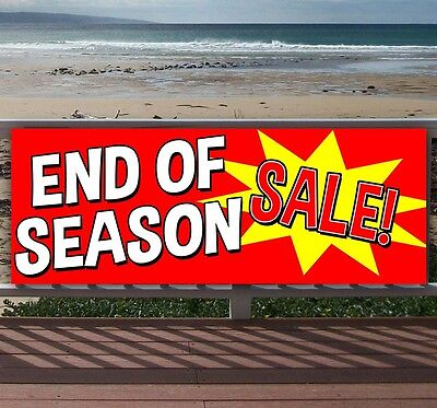 End Of Season Sale Advertising Vinyl Banner Flag Sign Many Sizes Available Usa