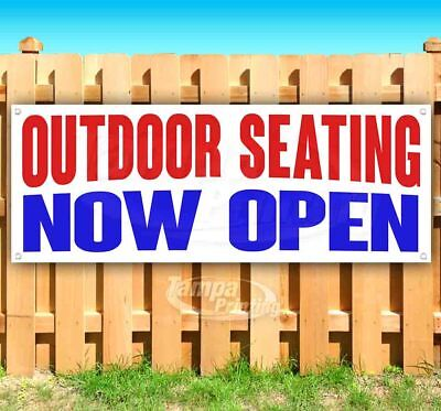 Outdoor Seating Now Open Advertising Vinyl Banner Flag Sign Many Sizes