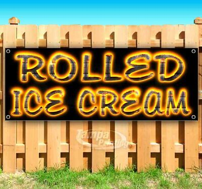 Rolled Ice Cream Advertising Vinyl Banner Flag Sign Many Sizes Available Bbq