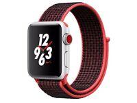 Brand New Sealed Apple Watch Series 3 Nike+ 38mm - GPS + Cellular - Bright Crimson