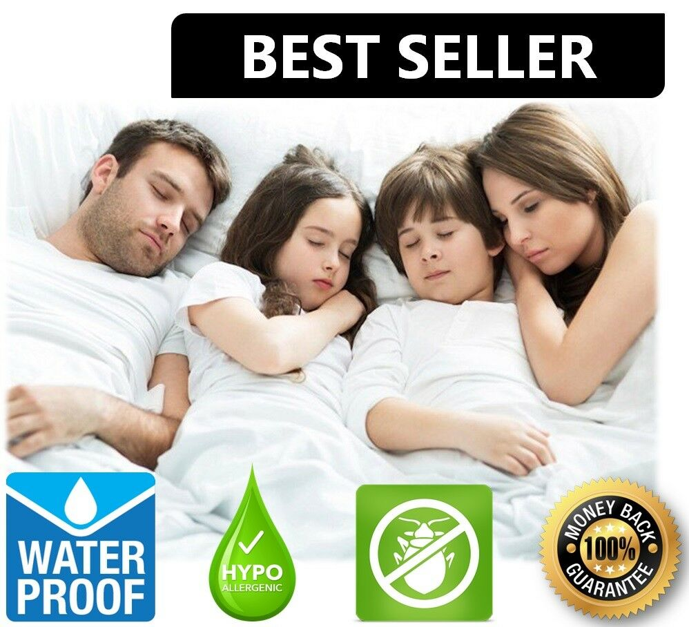 Waterproof Mattress Encasement Zippered Bed Bug Hypoallergen
