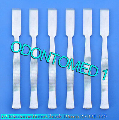 6 Osteotome Bone Chisels 10mm Surgical Orthopedic Instruments 25-141-145
