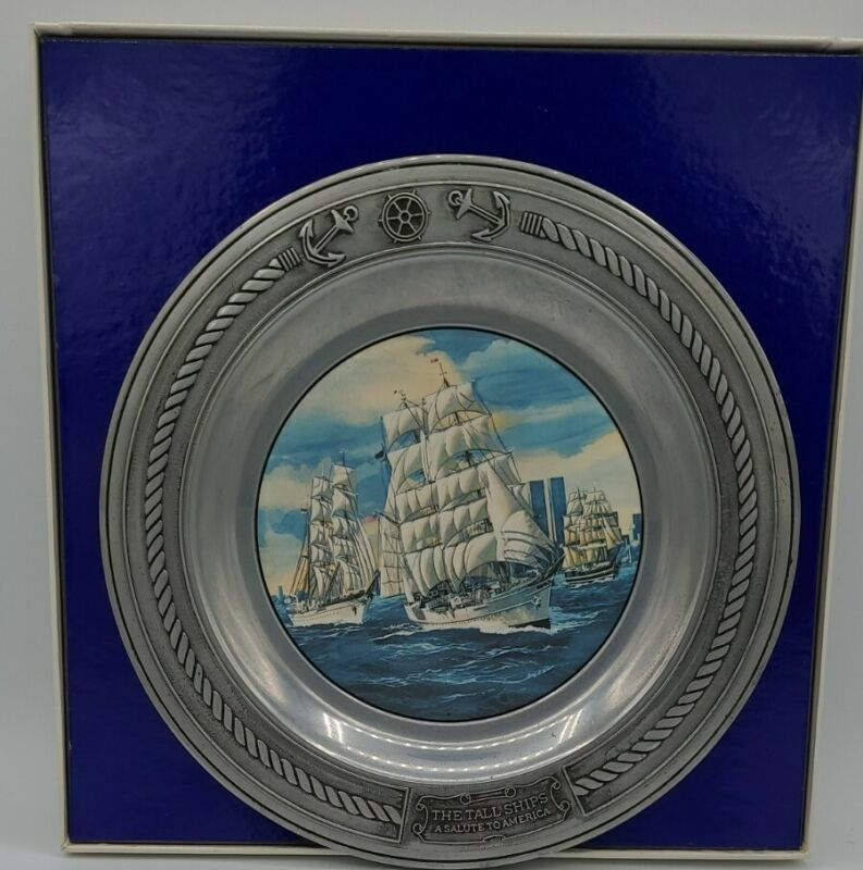 """VINTAGE """"THE TALL SHIPS"""" A SALUTE TO AMERICA DANBURY MINT LIMITED EDITION"""