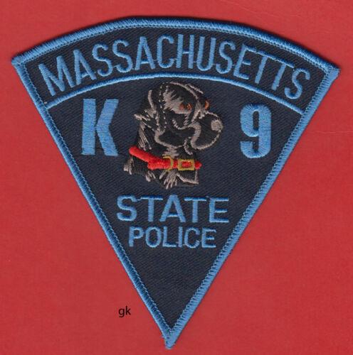 MASSACHUSETTS STATE  POLICE BLACK LABRADOR  K9  SHOULDER PATCH