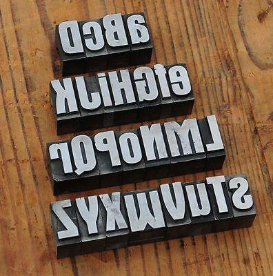 A-Z mix Bleischrift 27mm Bleialphabet Buchstaben Letter Stempel Stoffdruck Stoff