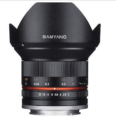 Samyang 12mm F2.0 NCS CS Nano MC APSC Angle Lens For Sony E Mount - Black