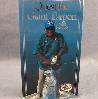 Quest for Giant Tarpon & Successful Tarpon Tactics VHS Lot of 2 Fishing Videos