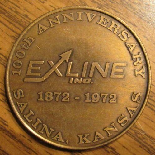 1972 Exline Inc. 100th Anniversary Salina, Kansas Token - Medal KS Kans.