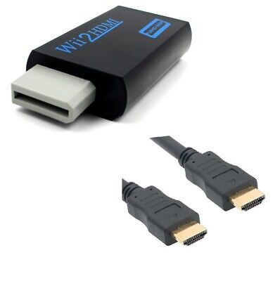 Adaptateur HDMI full HD pour Nintendo Wii - Wii U - Noir+...