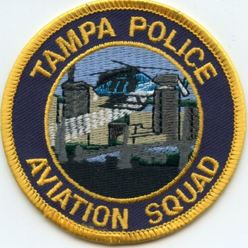 TAMPA FLORIDA FL AVIATION SQUAD Helicopter POLICE PATCH