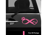 Dog Pease Love Recuet Animal Dog Cat  Pet Vinyl Decal Sticker Car Window Laptop