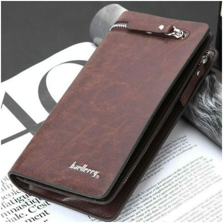 Men's Bifold Leather Zip Coin Handbag Multi Card Holder Purse Long Wallet Clutch Clothing, Shoes & Accessories