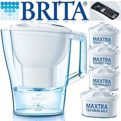 BRITA New Marella 2.4L Cool White Jug with 4 Month Pack of Maxtra Water Filters