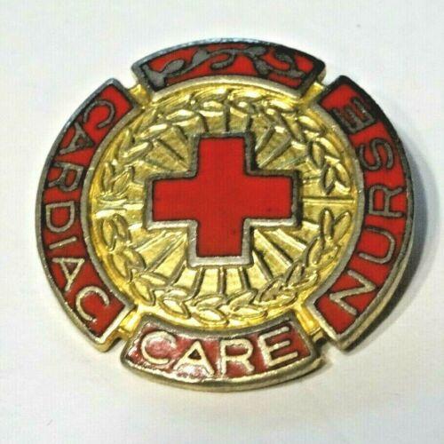 CARDIAC CARE NURSE ~ VINTAGE 1976 ENAMEL NURSING LAPEL PIN