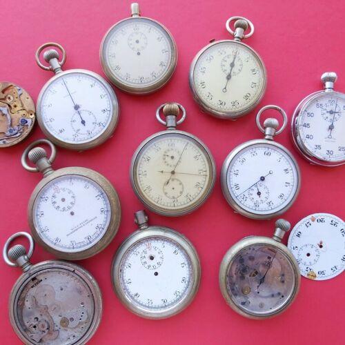 Stopwatch lot split second chrono stopwatch timer vintage project @WatchAdoption