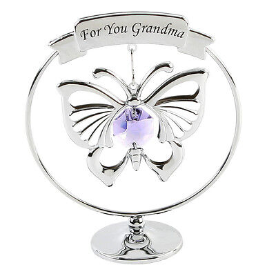 Grandma Butterfly With Swarovski Crystals Christmas Gift Ideas For Her SP259 ()