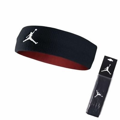Nike Air Jordan Jumpman Headband Black White Unisex  Basketball Hair Sweat Band
