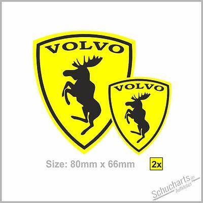 2x VOLVO Wappen Elch -Ferrarie Sticker Aufkleber Elk Moose  S/V90 V60 XC60/70/90 online kaufen