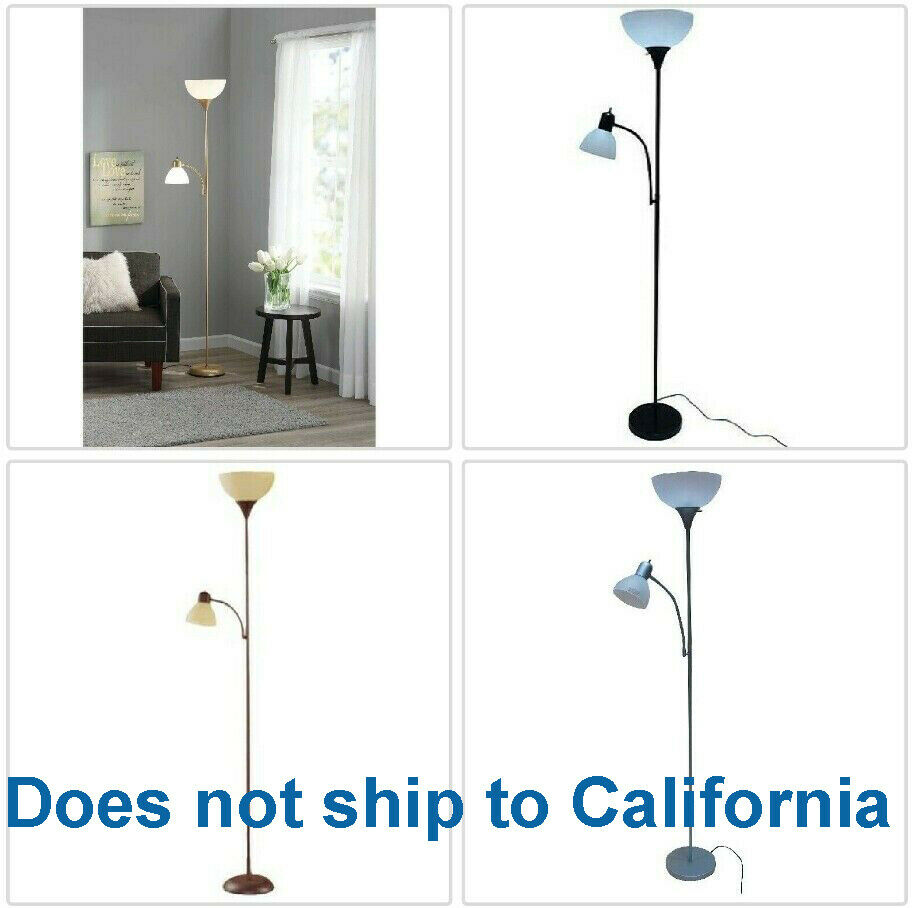 Metal Floor Lamp with Reading Light for Living Room Uplight