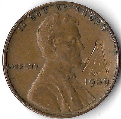 Rare Vintage Free Mason Knights Templar Masonic WWII War Collection Coin 1939 39