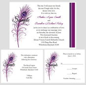 Custom Wedding Invitations Purple