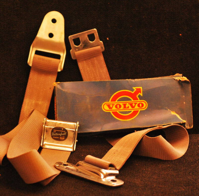 "1958 Vintage Volvo Two-Point Swedish ""Vattenfall"" Seatbelt (Sold Individually)"